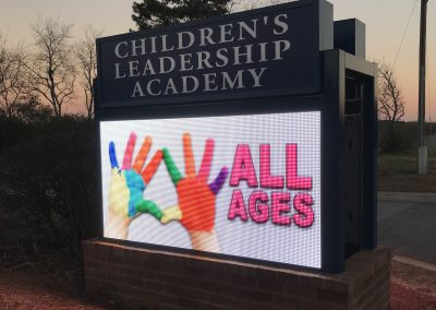 Childrens Leadership Academy Holly Springs Georgia New LED Digital Sign by SignGig