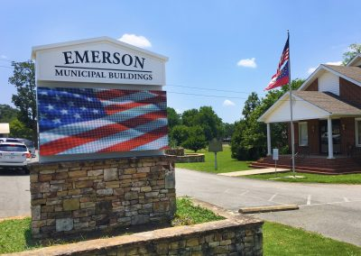 City of Emerson New LED Digital Monument Sign by SignGig