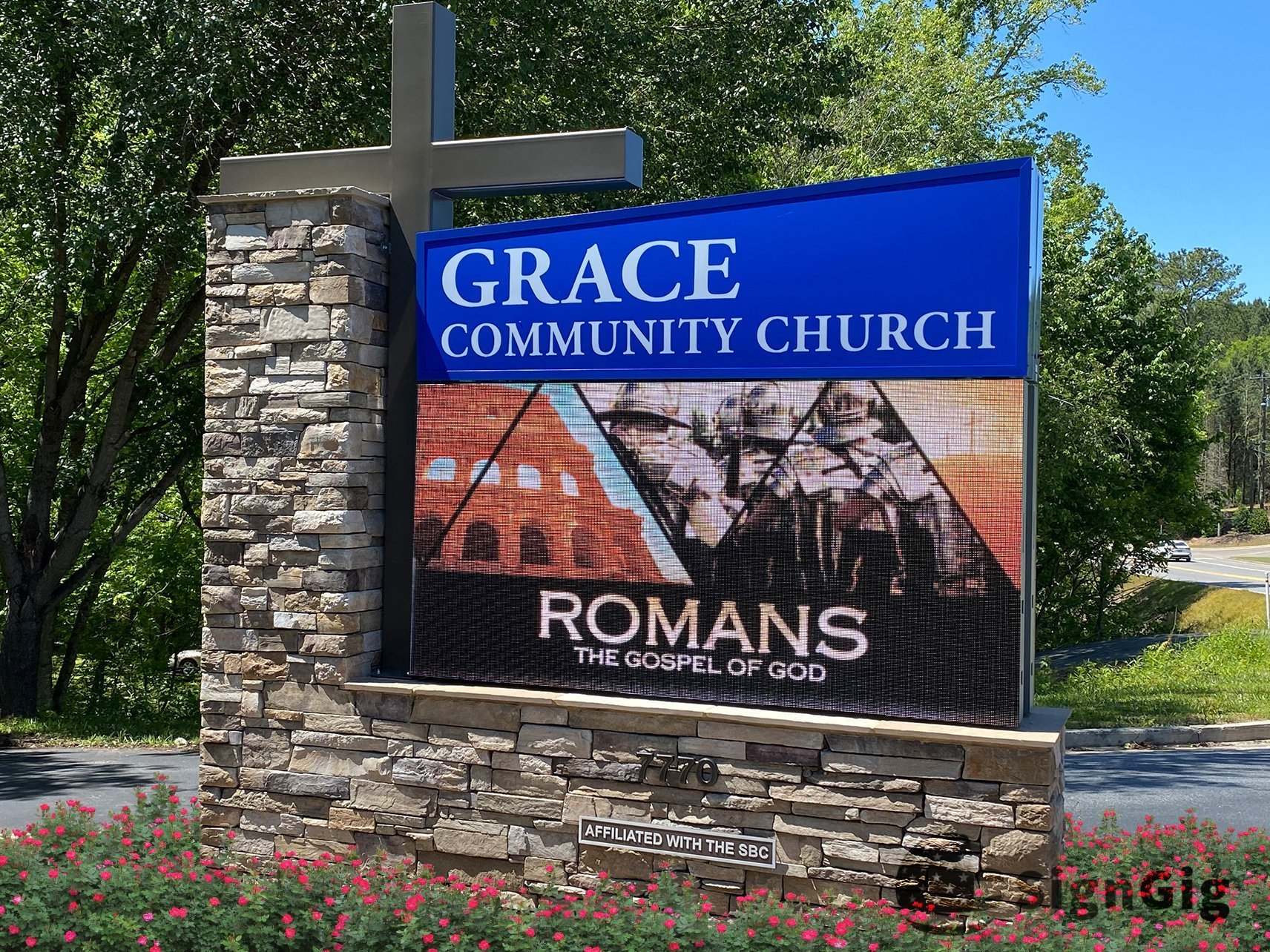 Church LED Electronic Sign Georgia