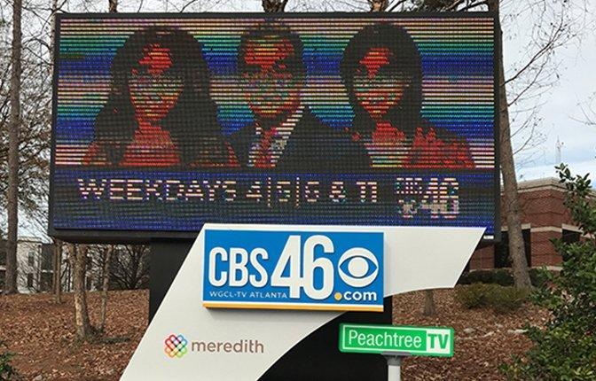 LED Monument Sign Reface CBS46 Atlanta