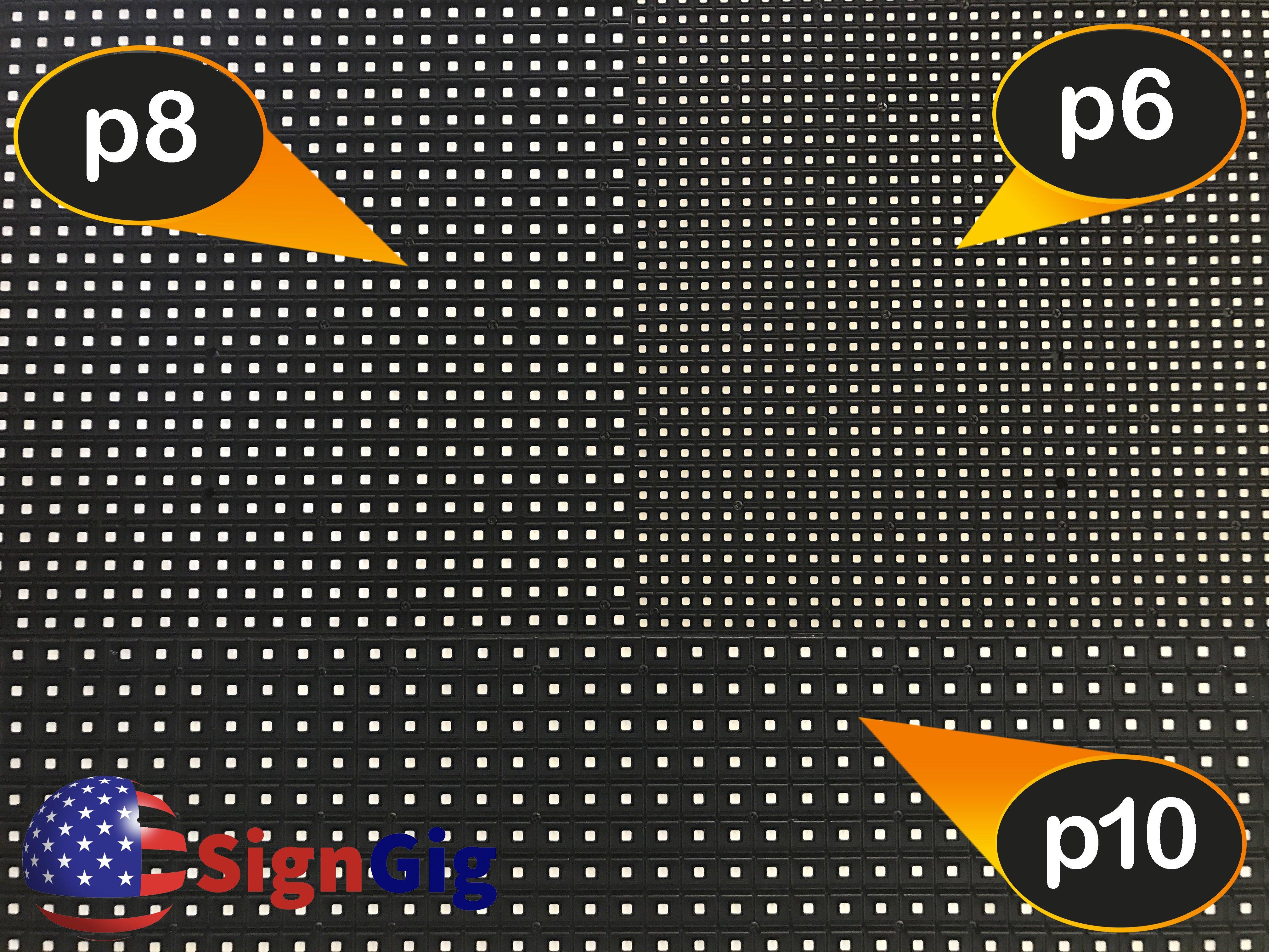 SignGig Blog Module Pixel Pitch Example